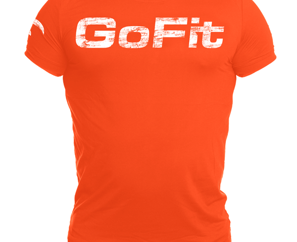 GoFit Performance Training Tee Herre Oransje