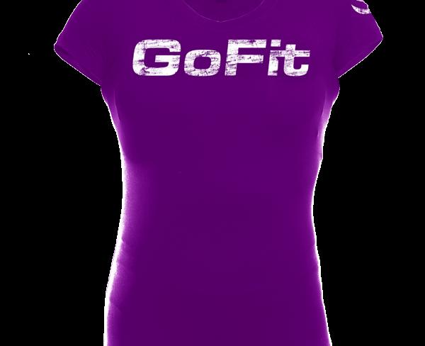 GoFit Performance Training Tee Dame Lilla